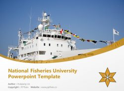National Fisheries University Powerpoint Template Download | 水产大学校PPT模板下载