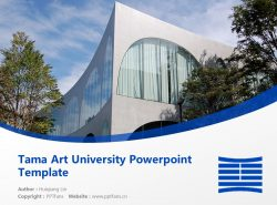 Tama Art University Powerpoint Template Download | 多摩美术大学PPT模板下载