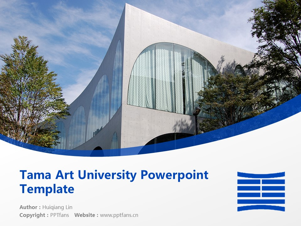 Tama Art University Powerpoint Template Download | 多摩美术大学PPT模板下载_幻灯片1