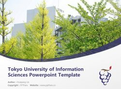 Tokyo University of Information Sciences Powerpoint Template Download | 东京情報大学PPT模板下载
