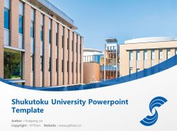 Shukutoku University Powerpoint Template Download | 淑德大学PPT模板下载