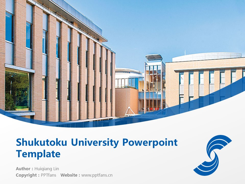 Shukutoku University Powerpoint Template Download | 淑德大学PPT模板下载_幻灯片1
