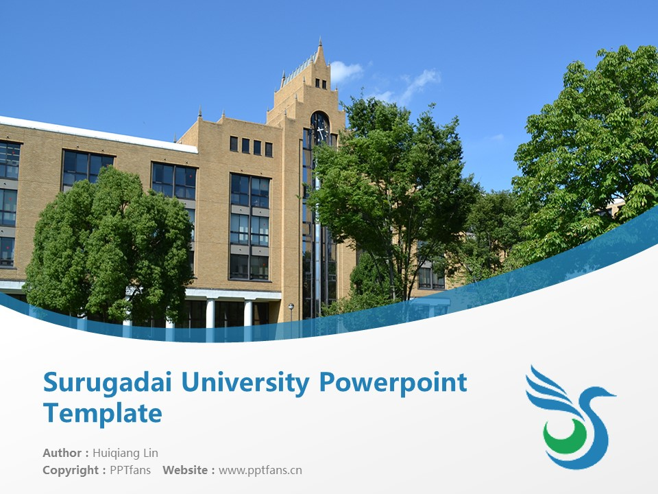 Surugadai University Powerpoint Template Download | 骏河台大学PPT模板下载_幻灯片1