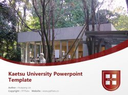 Kaetsu University Powerpoint Template Download | 嘉悦大学PPT模板下载