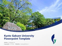 Kyoto Gakuen University Powerpoint Template Download | 京都学园大学PPT模板下载