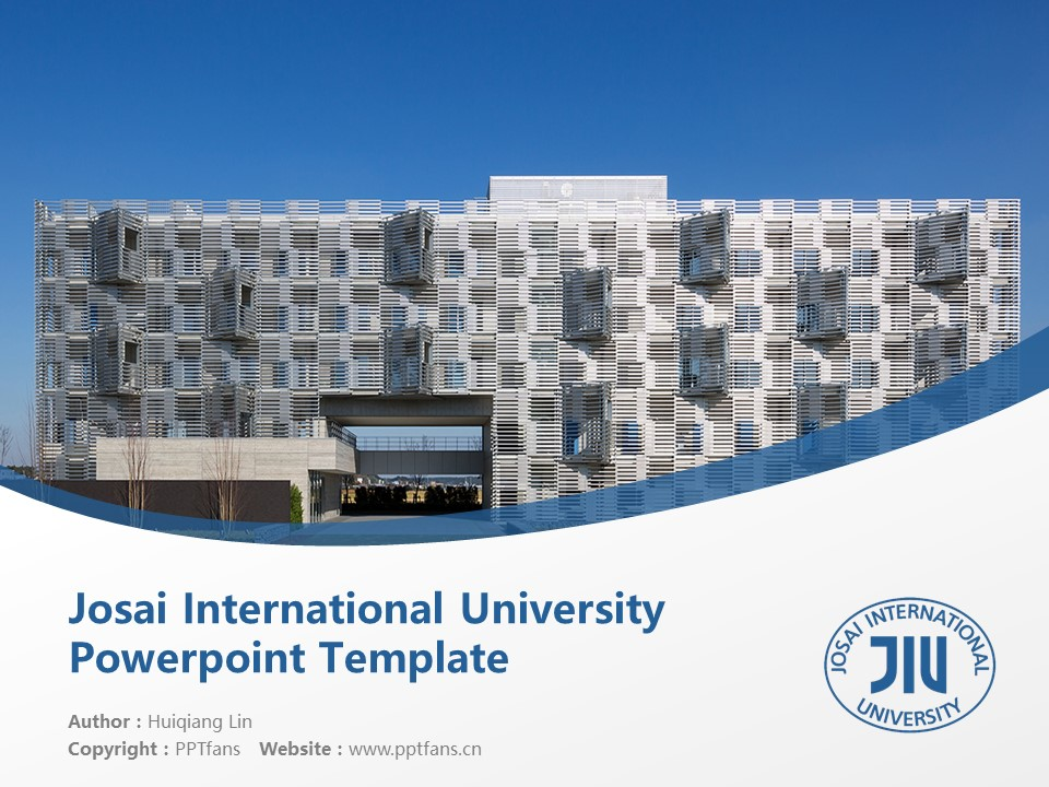 Josai International University Powerpoint Template Download | 城西国际大学PPT模板下载_幻灯片1