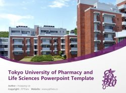 Tokyo University of Pharmacy and Life Sciences Powerpoint Template Download | 东京药科大学PPT模板下载