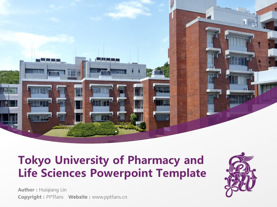 Tokyo University of Pharmacy and Life Sciences Powerpoint Template Download | 东京药科大学PPT模板下载_幻灯片1
