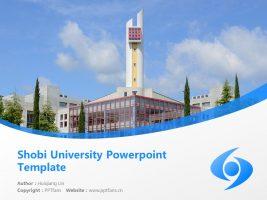 Shobi University Powerpoint Template Download | 尚美学园大学PPT模板下载