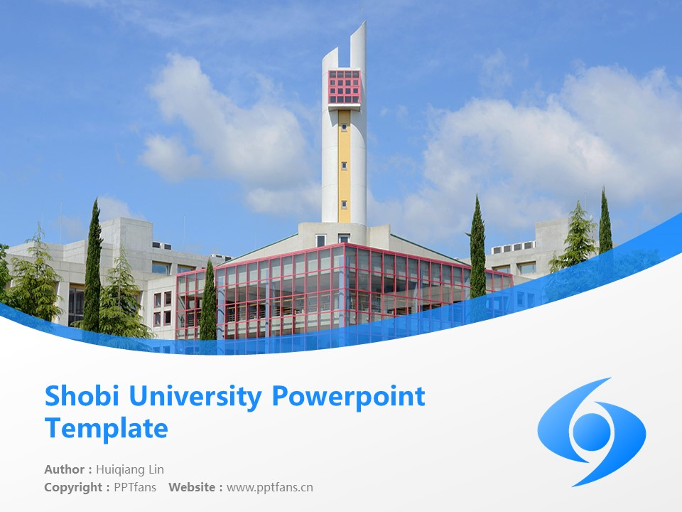 Shobi University Powerpoint Template Download | 尚美学园大学PPT模板下载_幻灯片1
