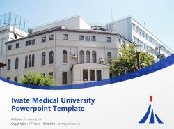 Iwate Medical University Powerpoint Template Download | 岩手医科大学PPT模板下载