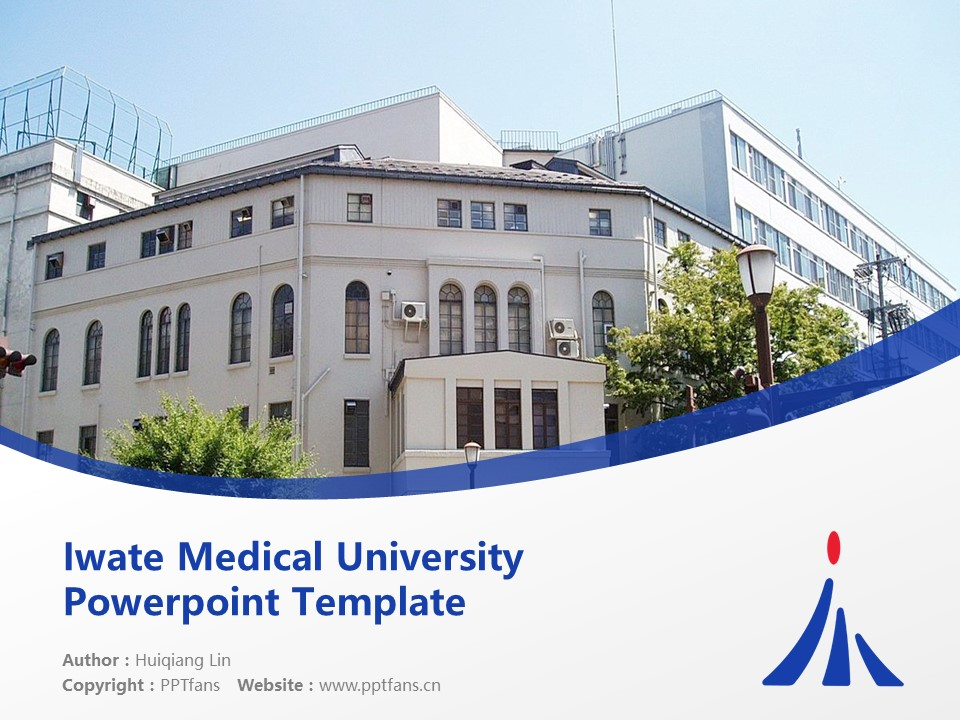 Iwate Medical University Powerpoint Template Download | 岩手医科大学PPT模板下载_幻灯片1