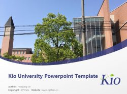 Kio University Powerpoint Template Download | 畿央大学PPT模板下载