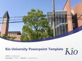 Kio University Powerpoint Template Download | 畿央大学PPT模板下载