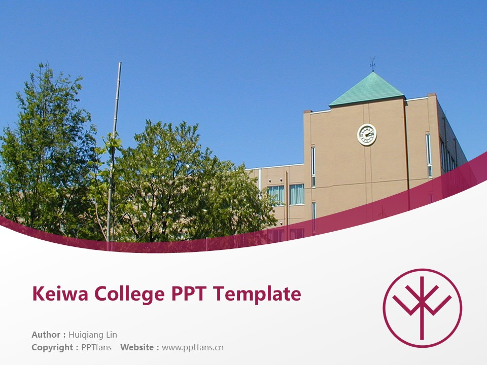 Keiwa College Powerpoint Template Download | 敬和学园大学PPT模板下载_幻灯片1