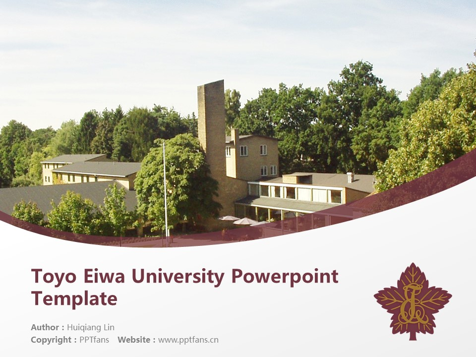 Toyo Eiwa University Powerpoint Template Download | 东洋英和女学院大学PPT模板下载_幻灯片1