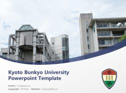 Kyoto Bunkyo University Powerpoint Template Download | 京都文教大学PPT模板下载