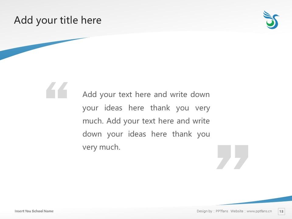 Surugadai University Powerpoint Template Download | 骏河台大学PPT模板下载_幻灯片13