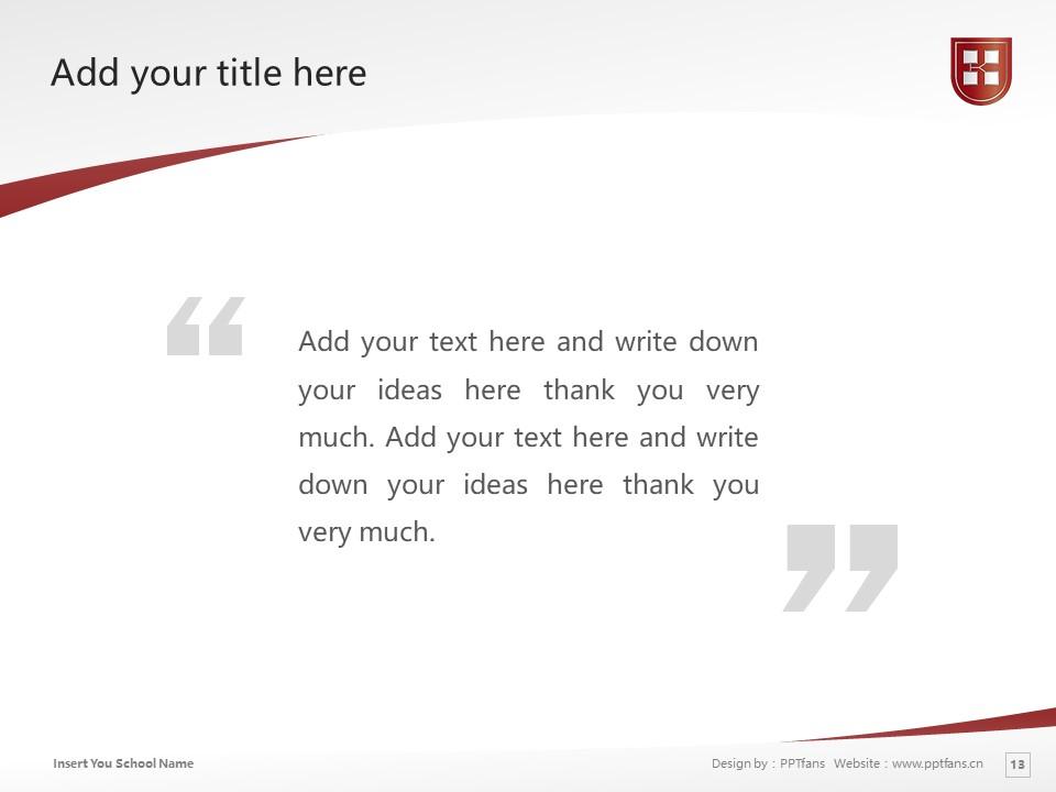 Kaetsu University Powerpoint Template Download   嘉悦大学PPT模板下载_slide13