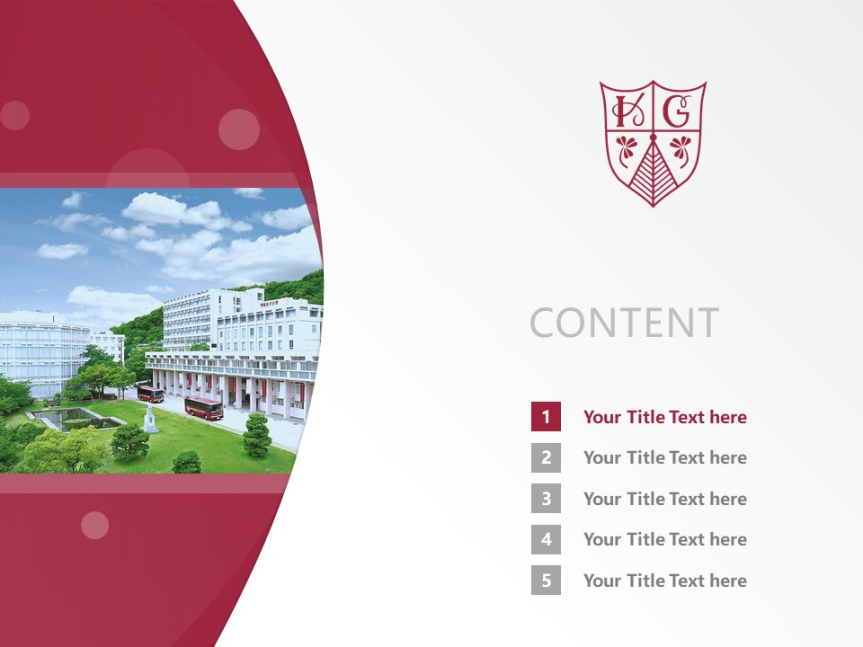 Konan Women's University Powerpoint Template Download | 甲南女子大学PPT模板下载_幻灯片2