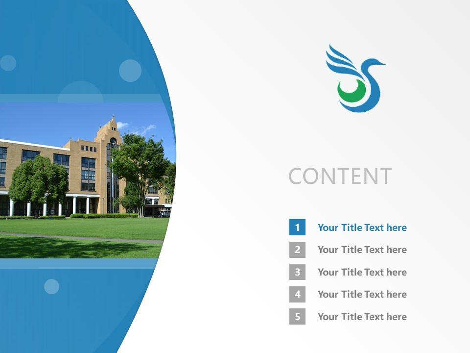 Surugadai University Powerpoint Template Download | 骏河台大学PPT模板下载_幻灯片2