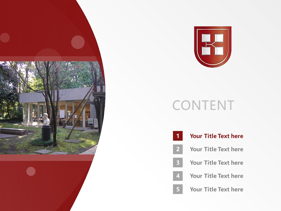 Kaetsu University Powerpoint Template Download   嘉悦大学PPT模板下载_slide2