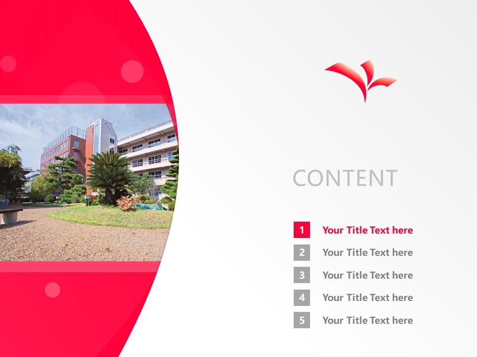 kyoto koka women's university Powerpoint Template Download | 京都光华女子大学PPT模板下载_幻灯片2