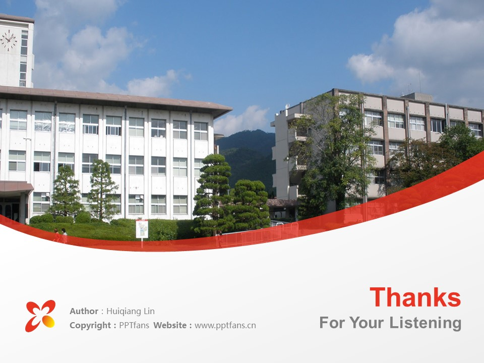 Yamaguchi Prefectural University Powerpoint Template Download | 山口县立大学PPT模板下载_slide18