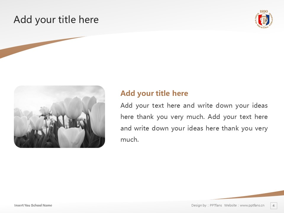 Tokyo Dental College Powerpoint Template Download | 东京牙科大学PPT模板下载_幻灯片4