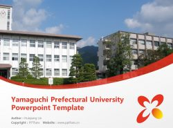 Yamaguchi Prefectural University Powerpoint Template Download | 山口县立大学PPT模板下载