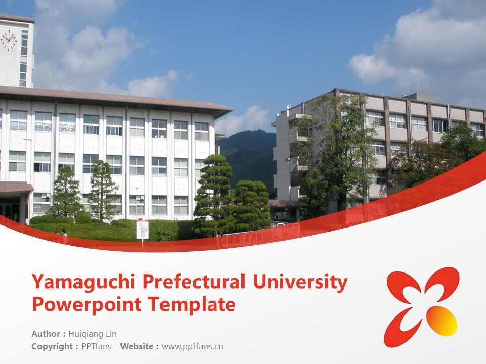 Yamaguchi Prefectural University Powerpoint Template Download | 山口县立大学PPT模板下载_slide1