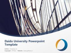 Daido University Powerpoint Template Download | 大同大学PPT模板下载