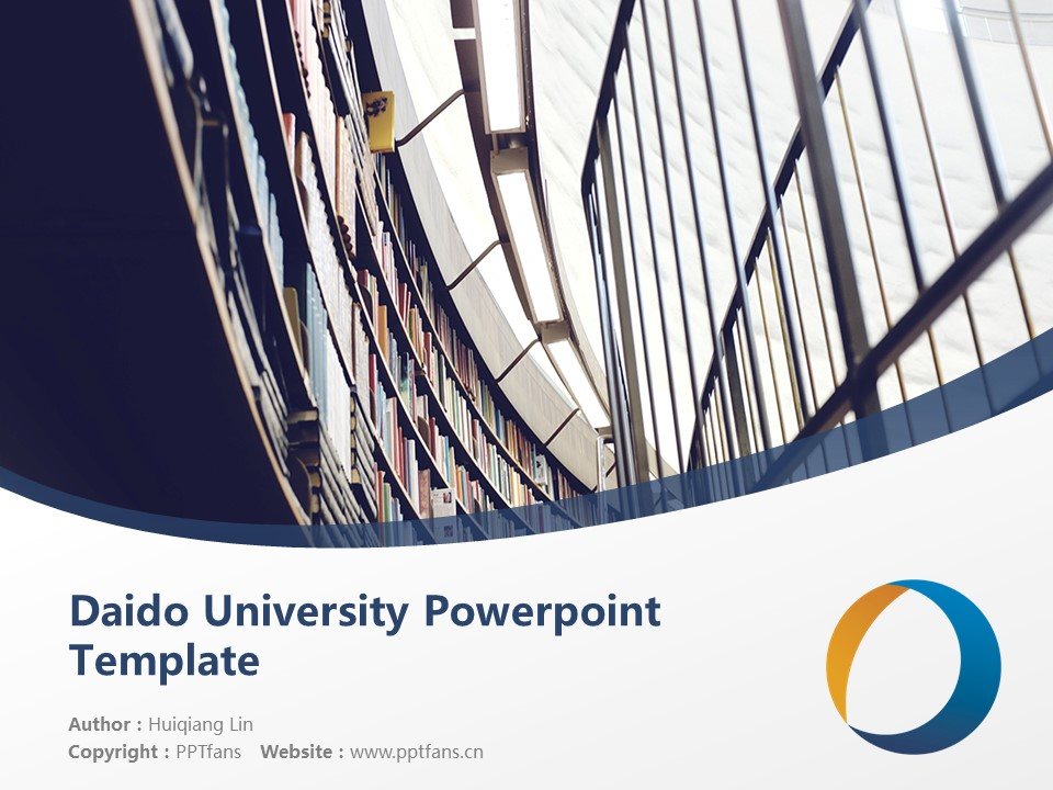 Daido University Powerpoint Template Download | 大同大学PPT模板下载_幻灯片1