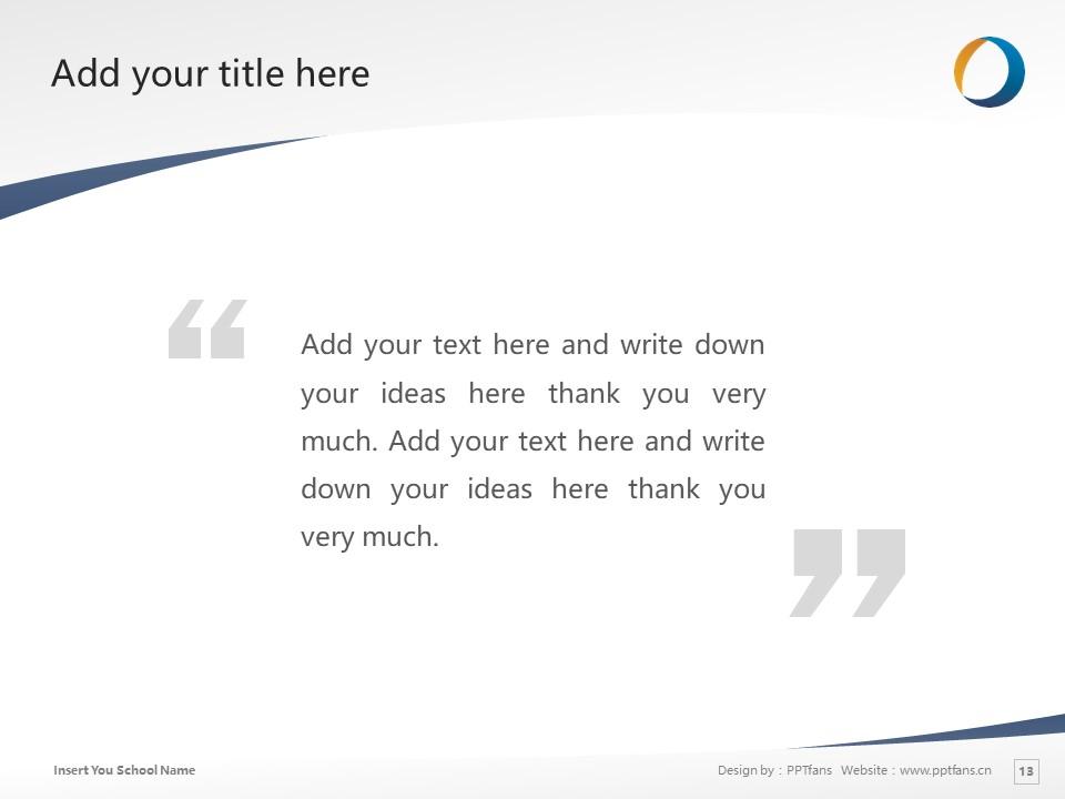 Daido University Powerpoint Template Download | 大同大学PPT模板下载_幻灯片13