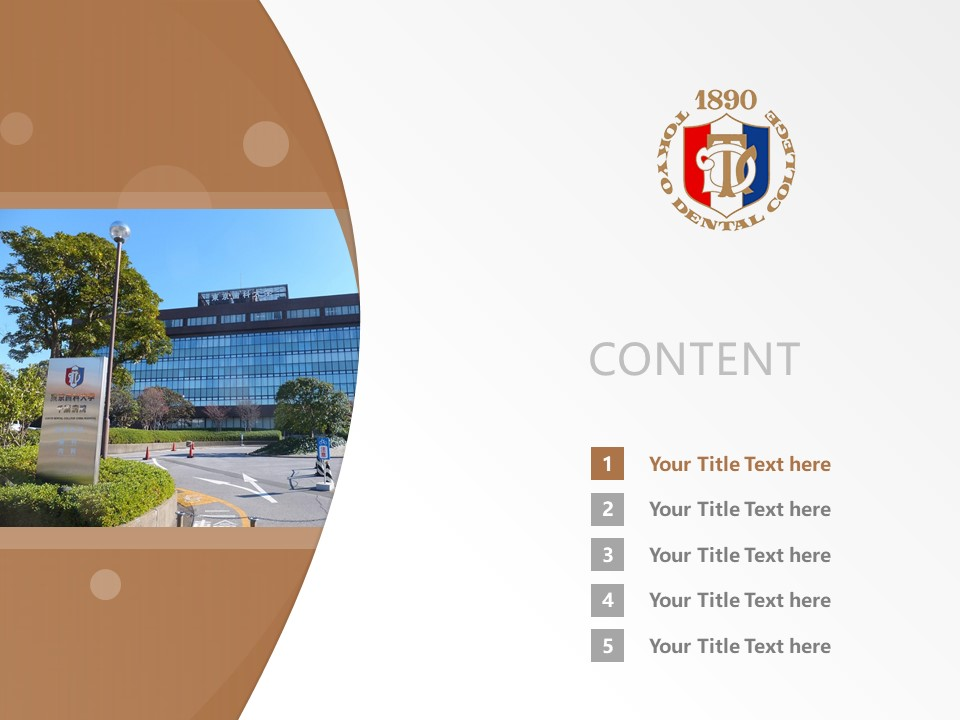 Tokyo Dental College Powerpoint Template Download | 东京牙科大学PPT模板下载_幻灯片2
