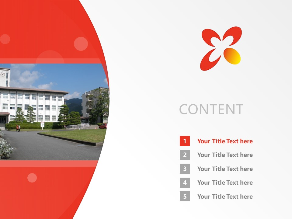 Yamaguchi Prefectural University Powerpoint Template Download | 山口县立大学PPT模板下载_slide2