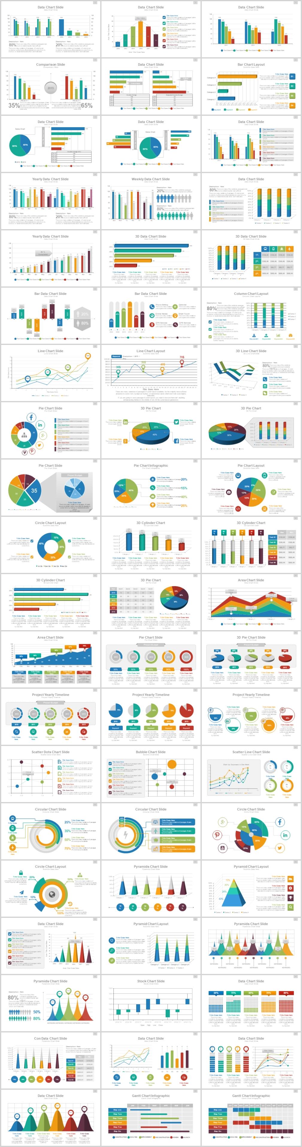 105页超高端纯动态数据图表PPT模板
