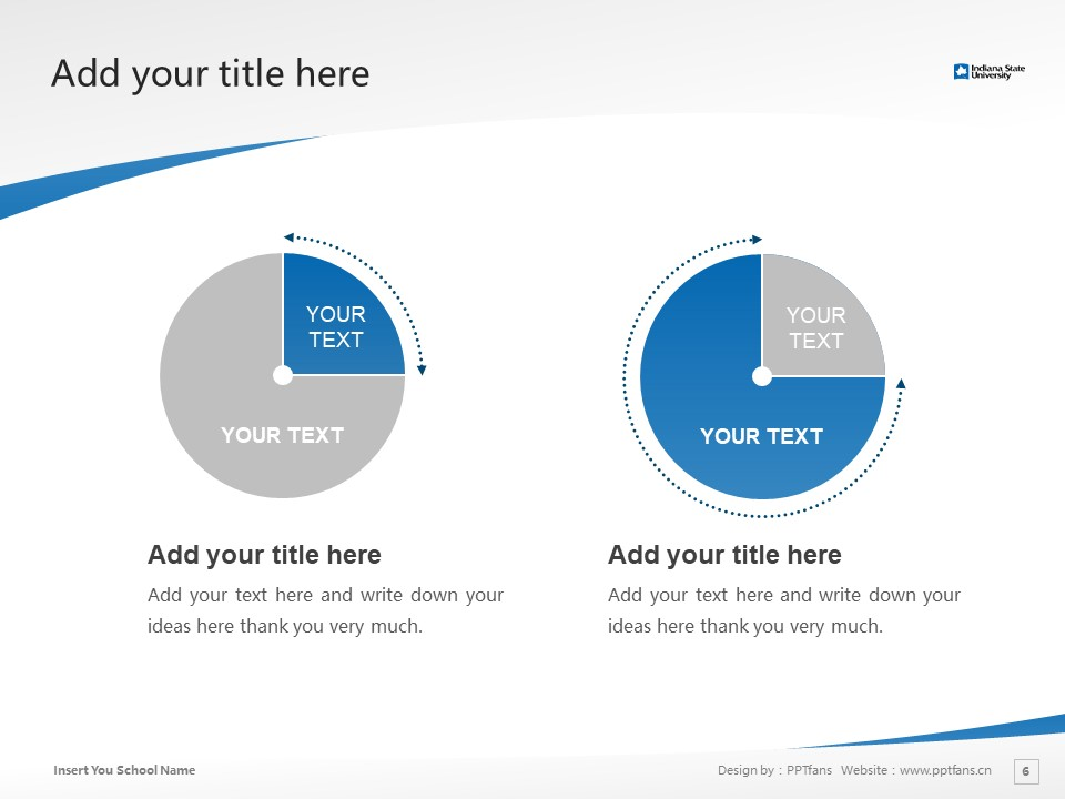 Indiana State University Powerpoint Template Download | 印第安纳州立大学PPT模板下载_slide6