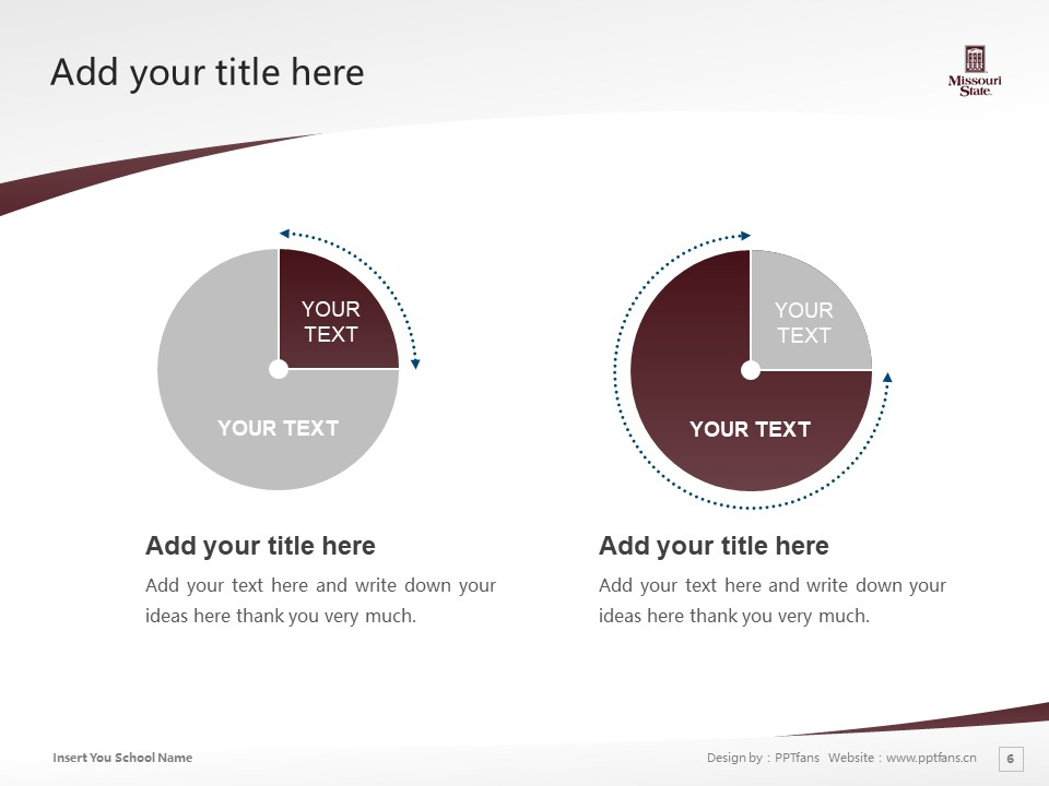 Missouri State University Powerpoint Template Download | 密苏里州立大学PPT模板下载_slide6
