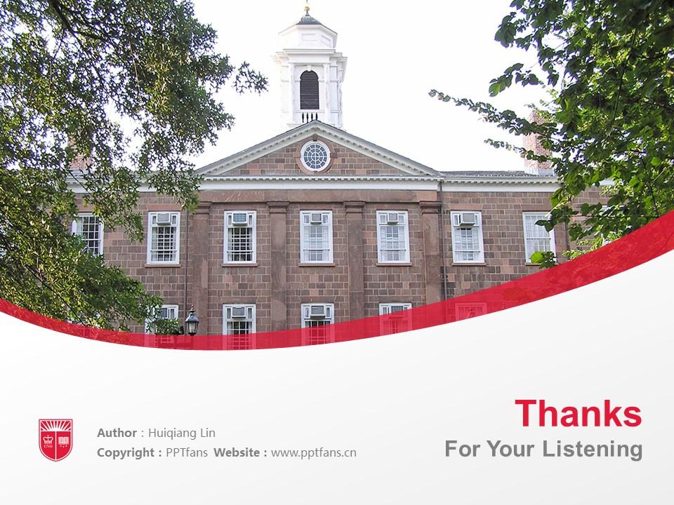 Rutgers University New Brunswick Powerpoint Template Download | 罗格斯大学新伯朗士威校区PPT模板下载_slide19