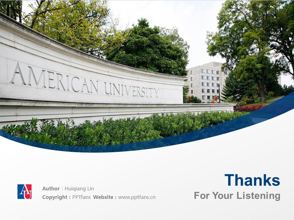 American University Washington, D.C. Powerpoint Template Download | 美国大学PPT模板下载_slide19