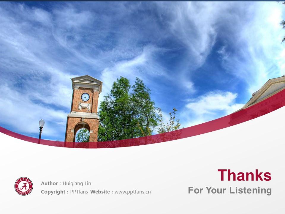 The University of Alabama Powerpoint Template Download | 美国阿拉巴马大学PPT模板下载_slide19