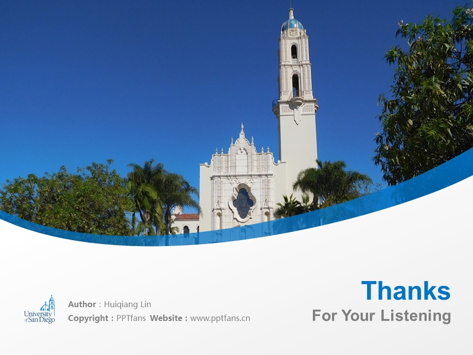 University of San Diego Powerpoint Template Download | 圣地亚哥大学PPT模板下载_slide19