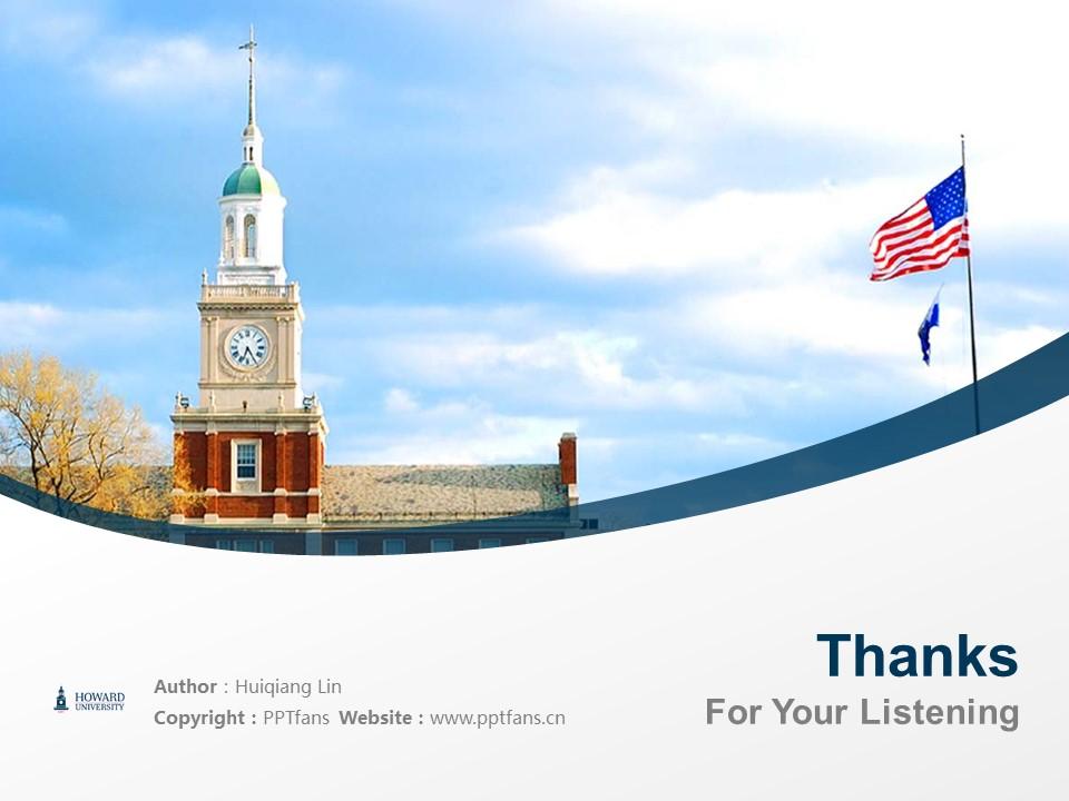 Howard University Powerpoint Template Download | 美国霍华德大学PPT模板下载_slide19