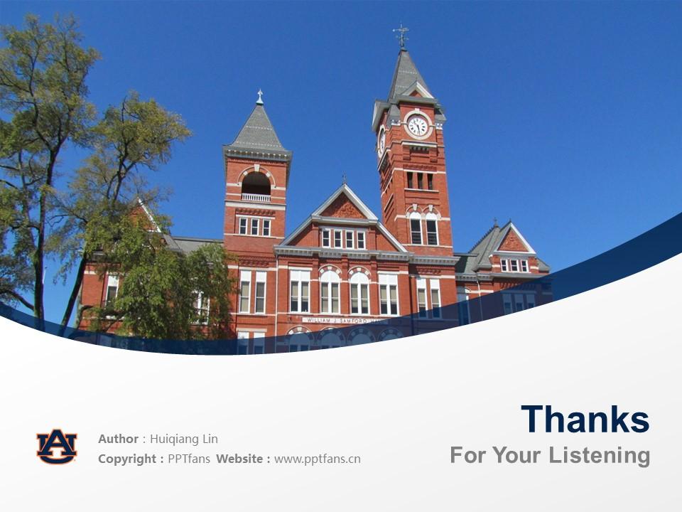 Auburn University Powerpoint Template Download | 美国奥本大学PPT模板下载_slide19