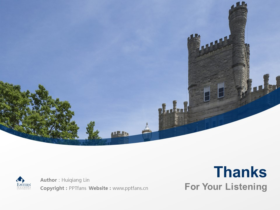 Eastern Illinois University Powerpoint Template Download | 东伊利诺斯大学PPT模板下载_slide19