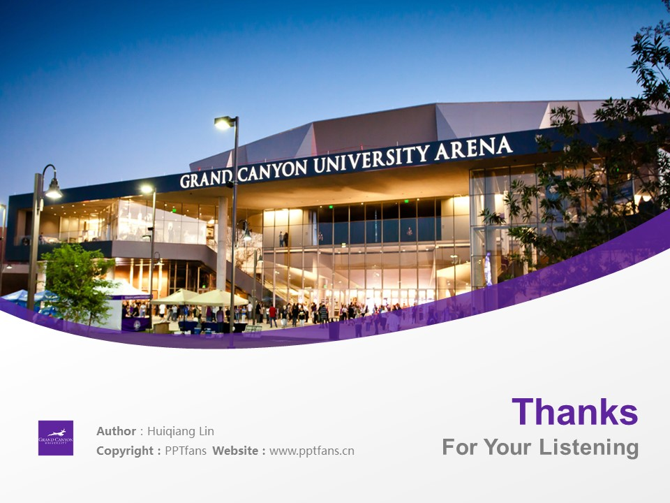 Grand Canyon University Powerpoint Template Download | 大峡谷大学PPT模板下载_slide19
