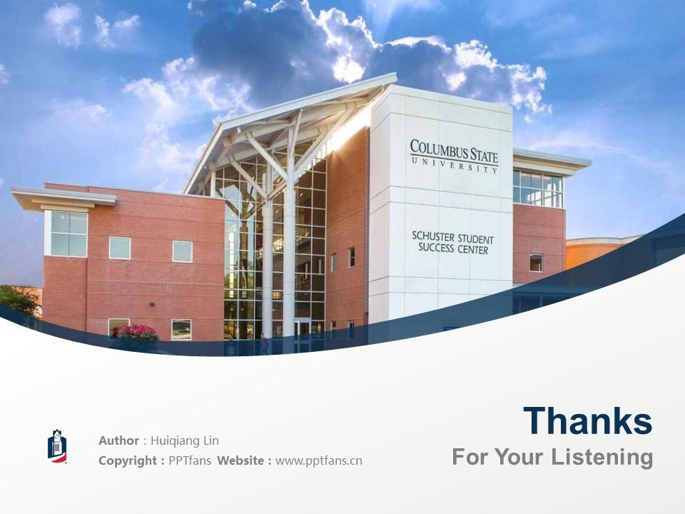 Columbus State University Powerpoint Template Download | 哥伦布州立大学PPT模板下载_幻灯片19