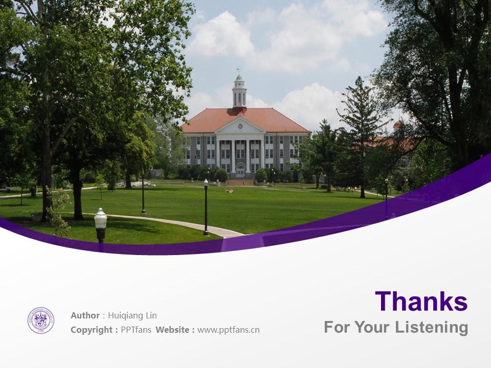 James Madison University Powerpoint Template Download | 詹姆士麦迪逊大学PPT模板下载_slide19