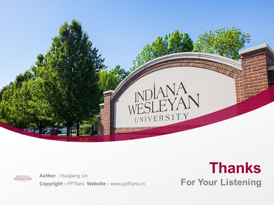 Indiana Wesleyan University Powerpoint Template Download | 印第安纳卫斯理大学PPT模板下载_slide19